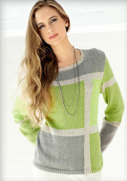 Lana Grossa PULLI MIT COLOURBLOCKS Linarte