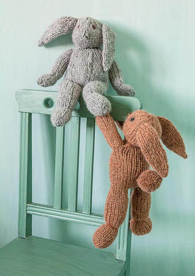 lana grossa gestrickte hasen garzato baby filati handstrick no 54 home modell 26 filati. Black Bedroom Furniture Sets. Home Design Ideas