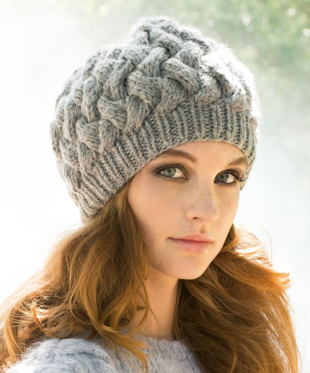 Вязание шапка плетёнка 28