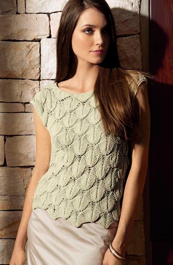 Lana Grossa TOP IM BLATTMUSTER Pico | FILATI CLASSICI No. 3 - Modell ...