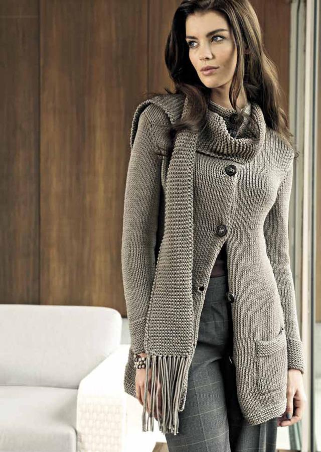 lana grossa schal cotofine filati no 43 sommer 2012 modell 13 filati strickmodelle. Black Bedroom Furniture Sets. Home Design Ideas