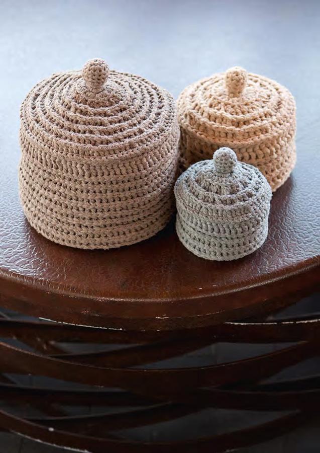 lana grossa kleine dose mit deckel paradiso filati handstrick no 47 home modell 18 3. Black Bedroom Furniture Sets. Home Design Ideas