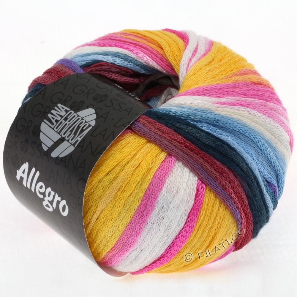 Lana Grossa ALLEGRO | 006-Gelb/Natur/Lila/Pink/Beere