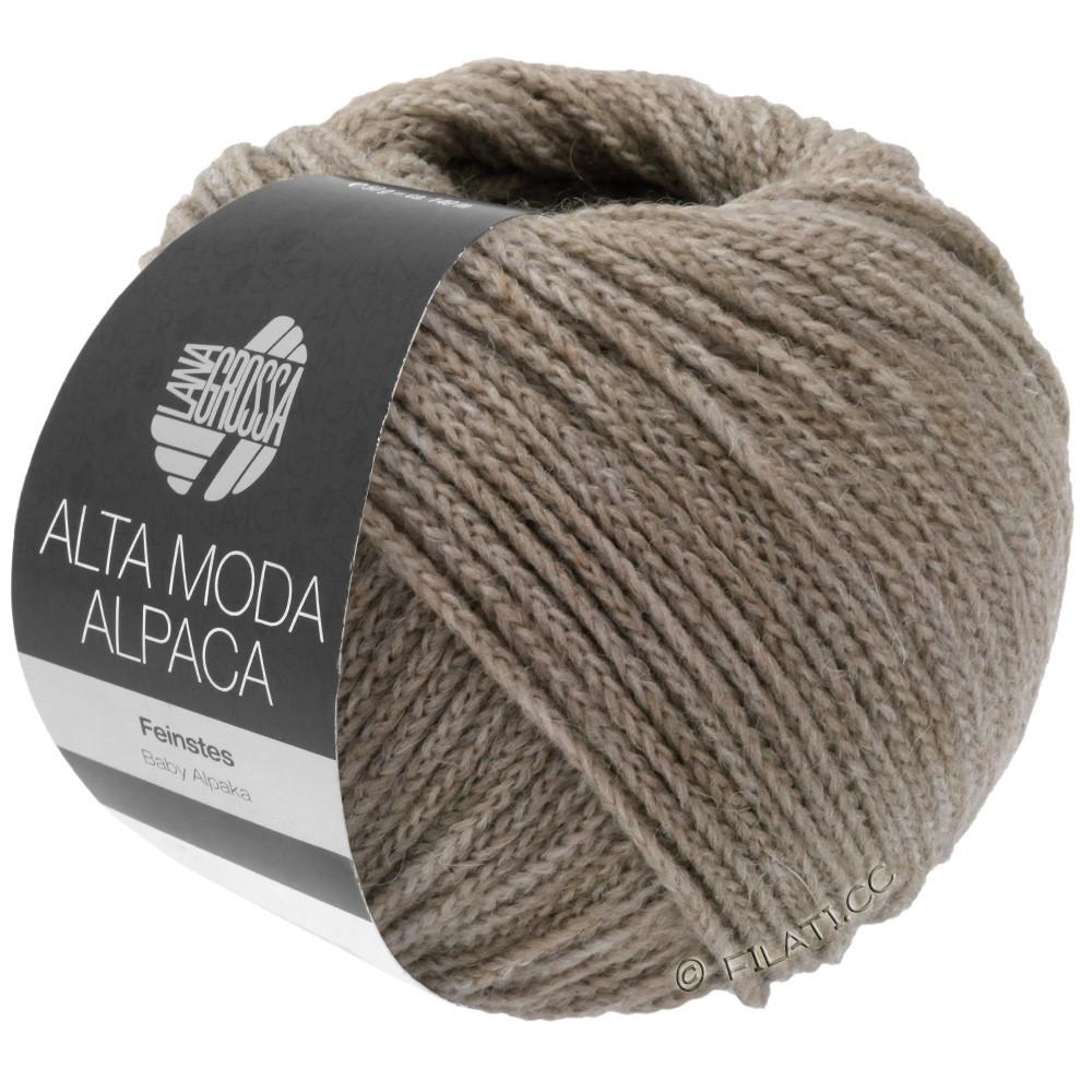 Lana Grossa ALTA MODA ALPACA | 15-Grau/Beige meliert