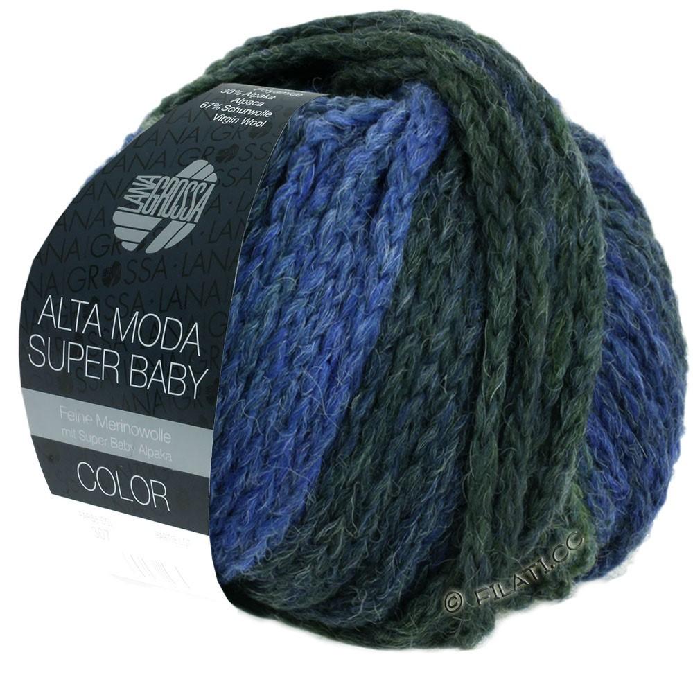 Lana Grossa ALTA MODA SUPER BABY  Color | 303-Hellblau/Blau/Blaugrau