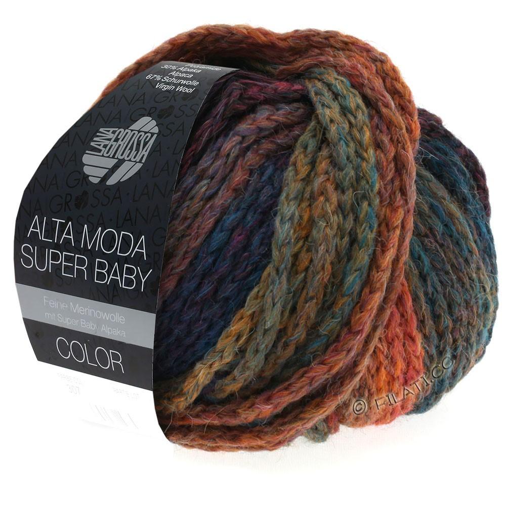 Lana Grossa ALTA MODA SUPER BABY  Color | 304-Kupfer/Senf/Petrol/Dunkelblau/Violett