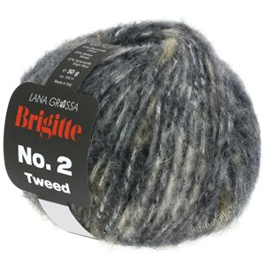 Lana Grossa BRIGITTE NO. 2 Tweed | 102-Hellgrau/Graubraun/Anthrazit