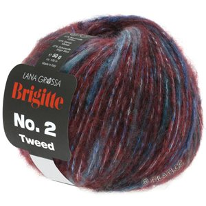 Lana Grossa BRIGITTE NO. 2 Tweed | 104-Burgund/Royal/Violett
