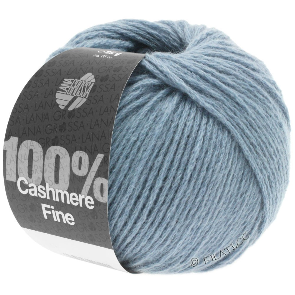 Lana Grossa 100% Cashmere Fine | 13-Rauchblau
