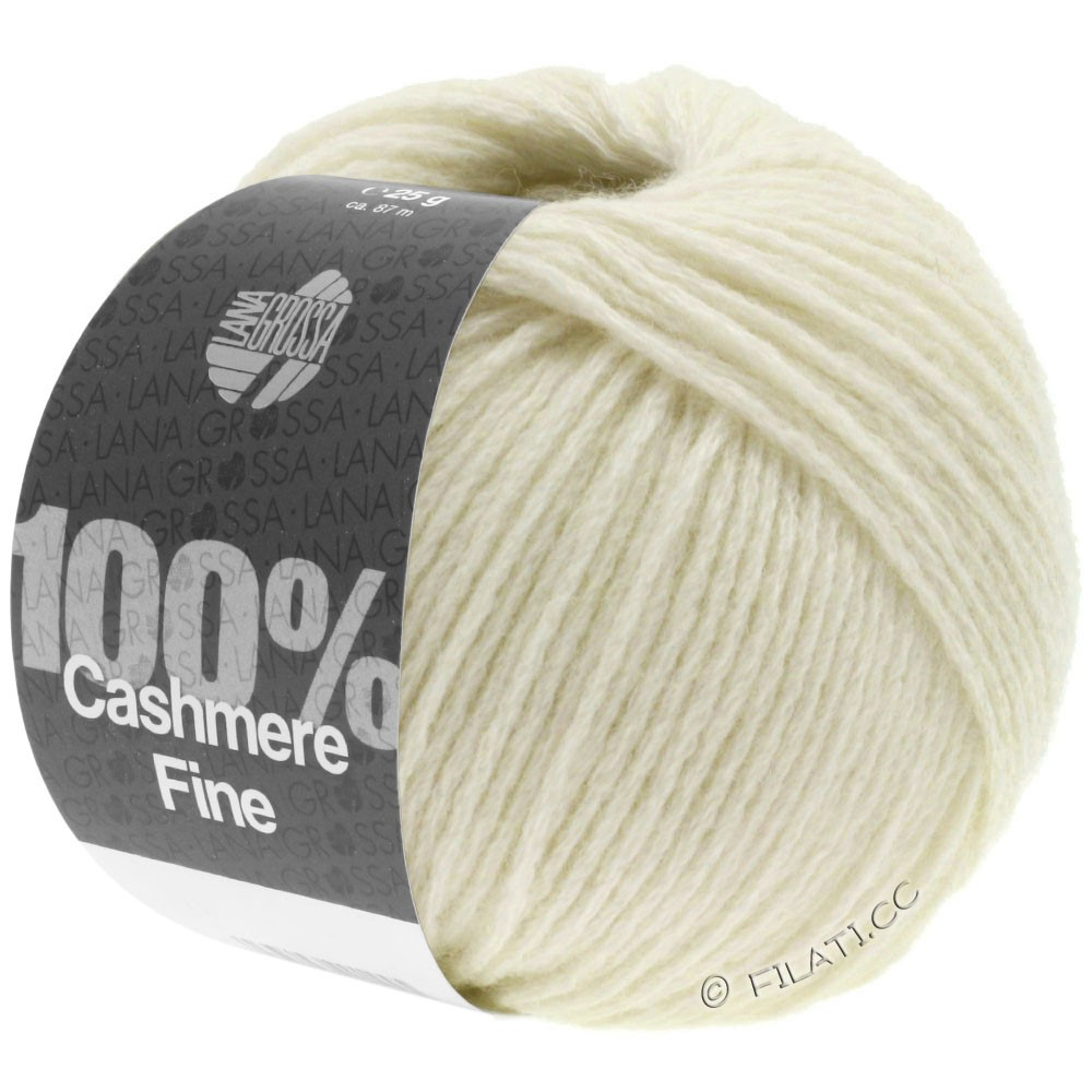 Lana Grossa 100% Cashmere Fine | 16-Rohweiß