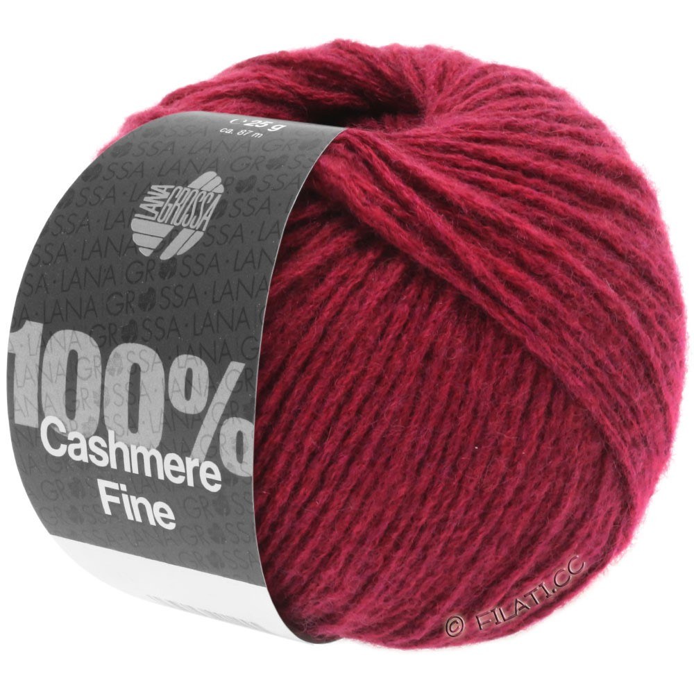 Lana Grossa 100% Cashmere Fine | 22-Weinrot