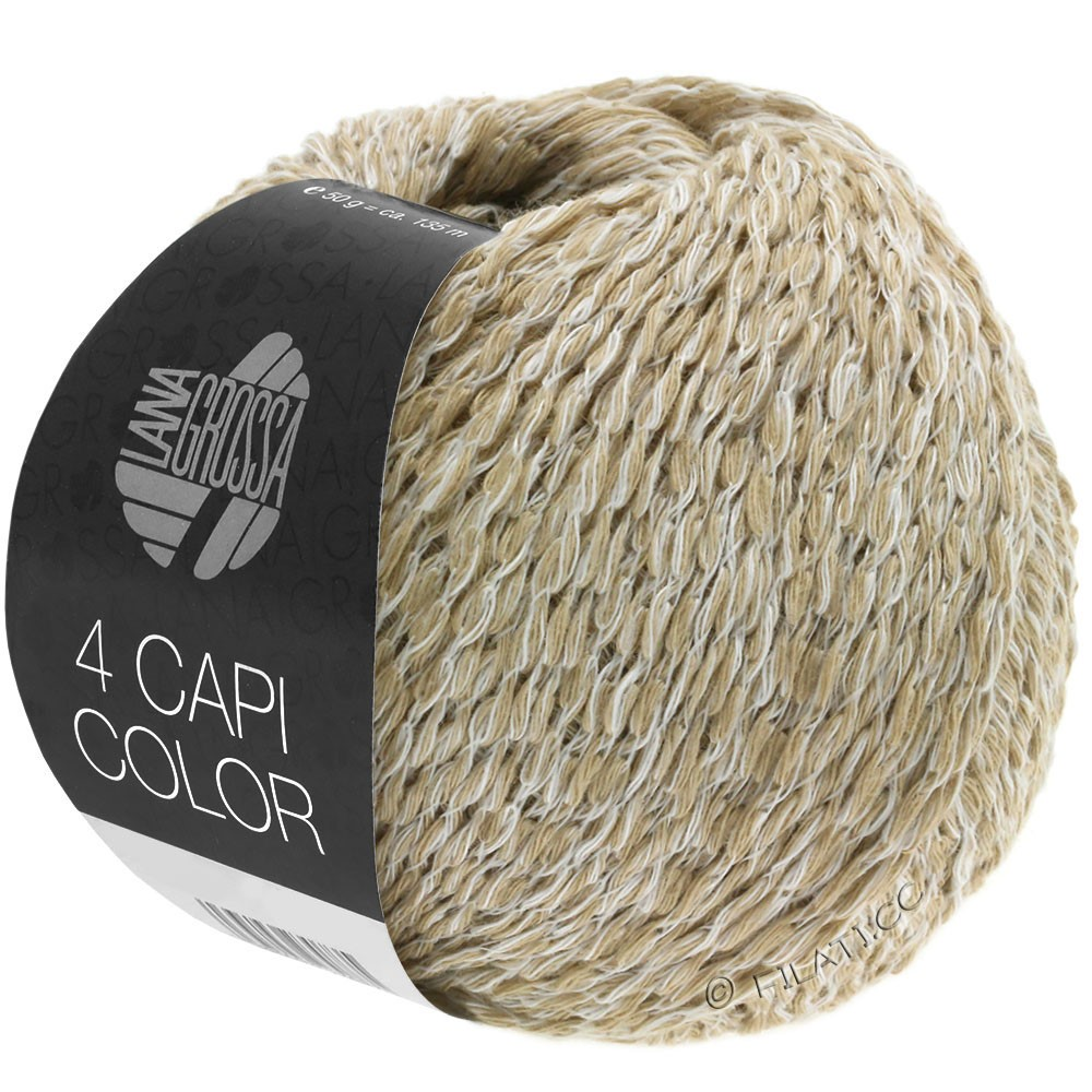 Lana Grossa 4 CAPI Color | 101-Weiß/Beige