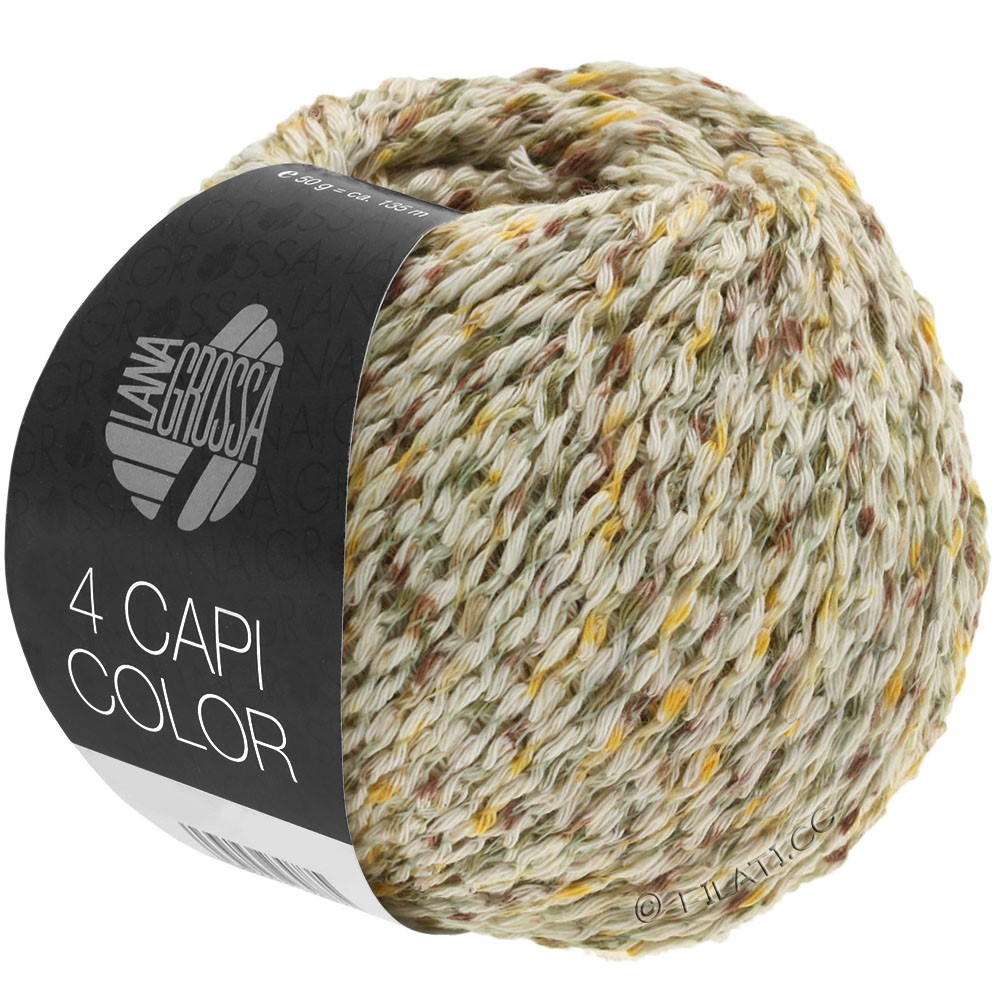 Lana Grossa 4 CAPI Color | 102-Natur/Gelb/Khaki/Braun