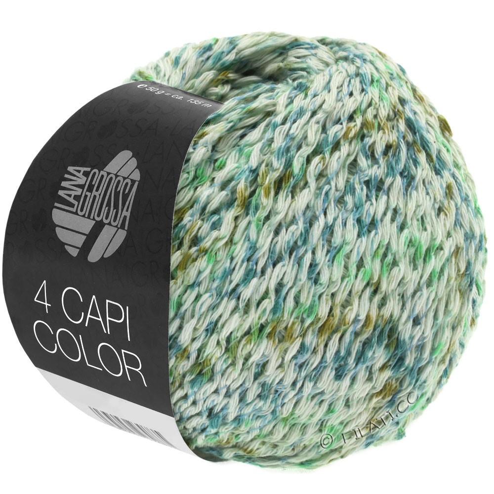 Lana Grossa 4 CAPI Color | 104-Natur/Jadegrün/Türkis/Oliv