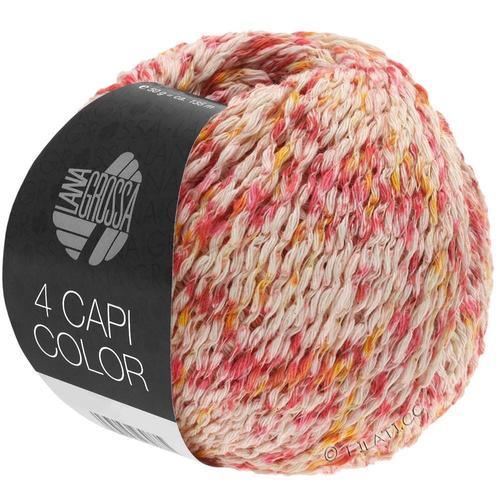 Lana Grossa 4 CAPI Color | 105-Natur/Rot/Sonnengelb/Pink