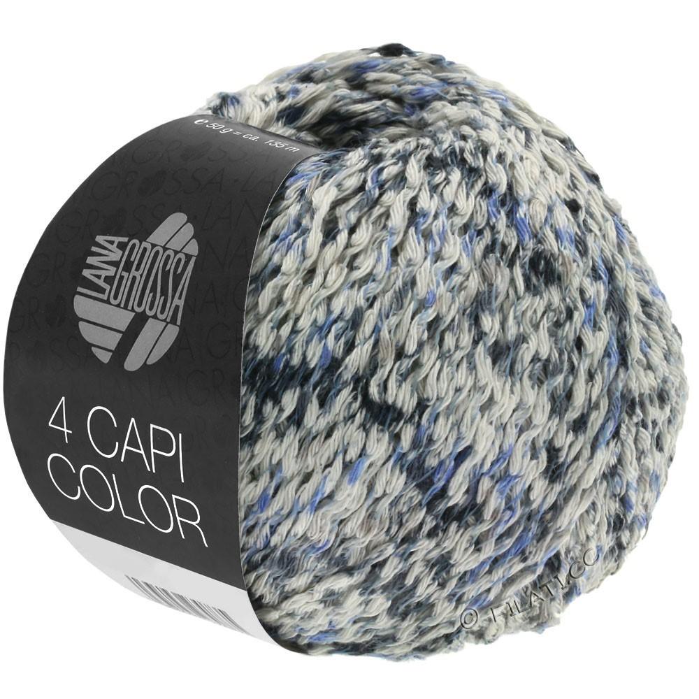 Lana Grossa 4 CAPI Color | 107-Natur/Jeans/Dunkelblau/Grau