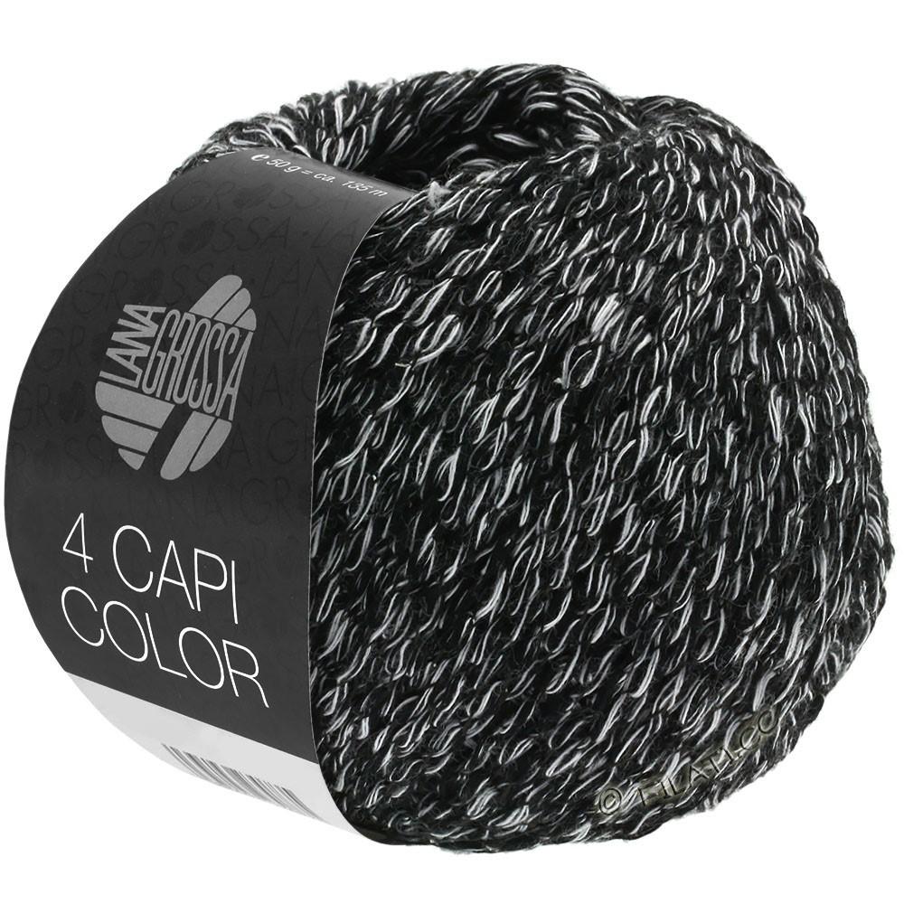 Lana Grossa 4 CAPI Color | 108-Schwarz/Weiß
