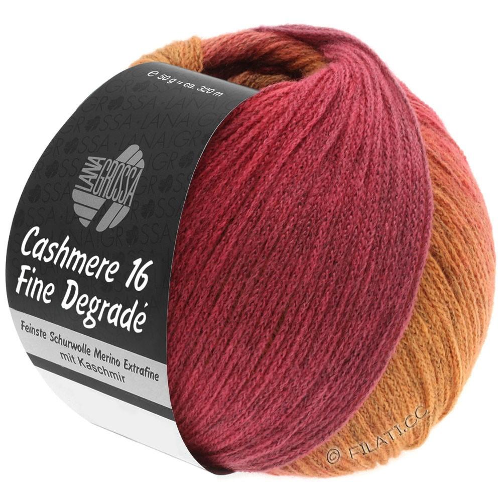 Lana Grossa CASHMERE 16 FINE Uni/Degradé | 109-Orange/Pink/Himbeer/Altrosa