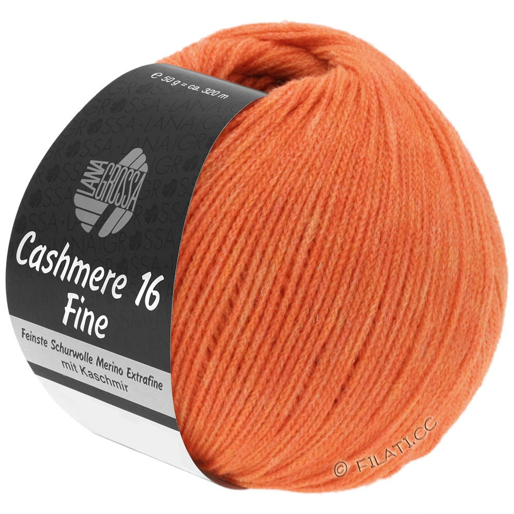 Lana Grossa CASHMERE 16 FINE Uni/Degradé | 030-Orange