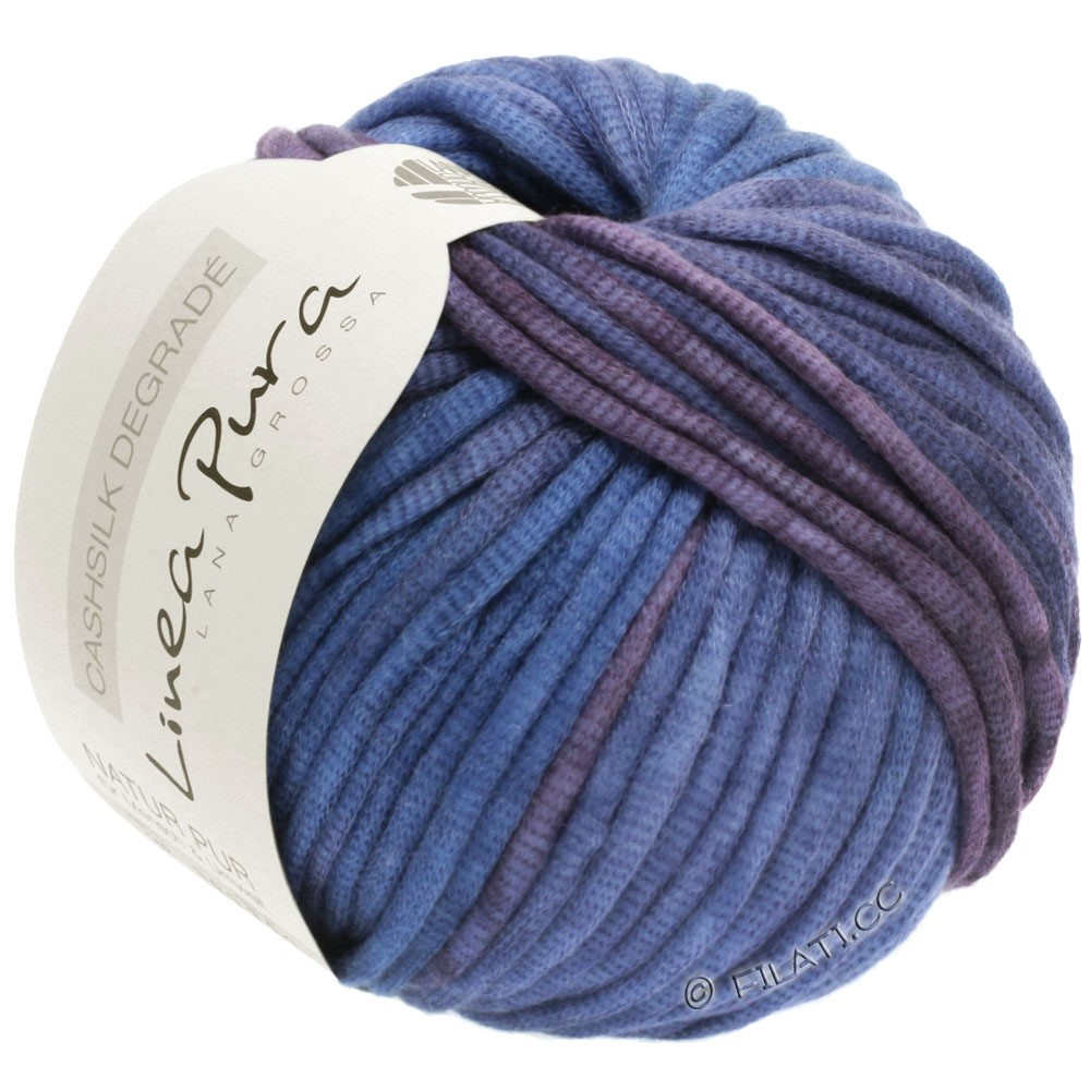Lana Grossa CASHSILK Degradé (Linea Pura) | 101-Pflaume/Veilchenblau/Lavendel