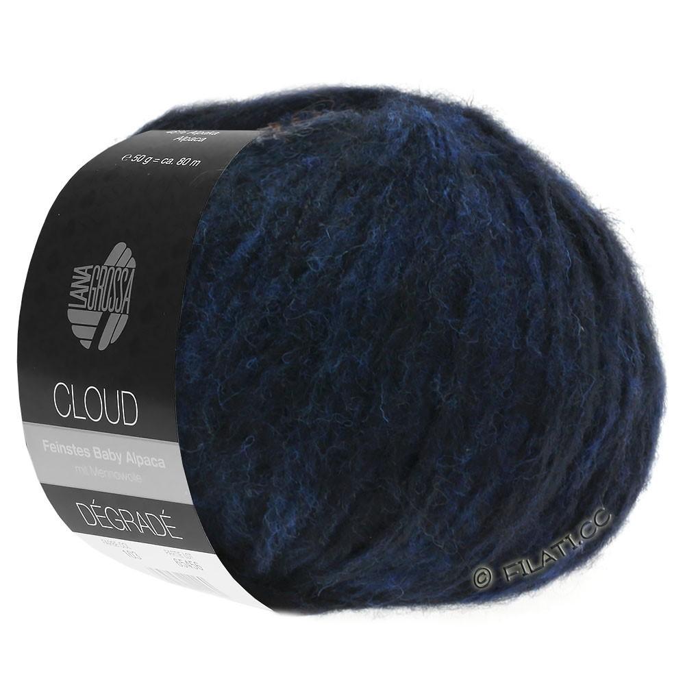 Lana Grossa CLOUD Degradé | 107-Nachtblau/Schwarz