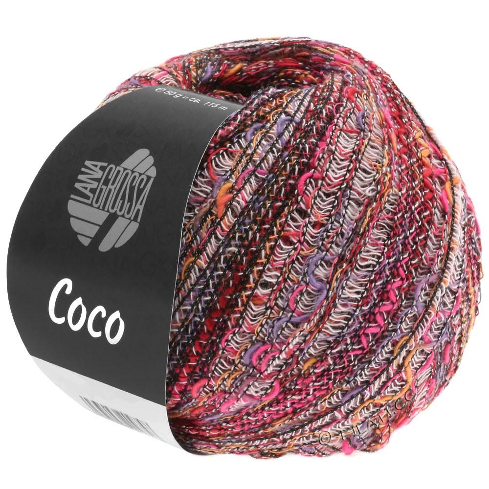 Lana Grossa COCO | 01-Weiß/Orange/Pink