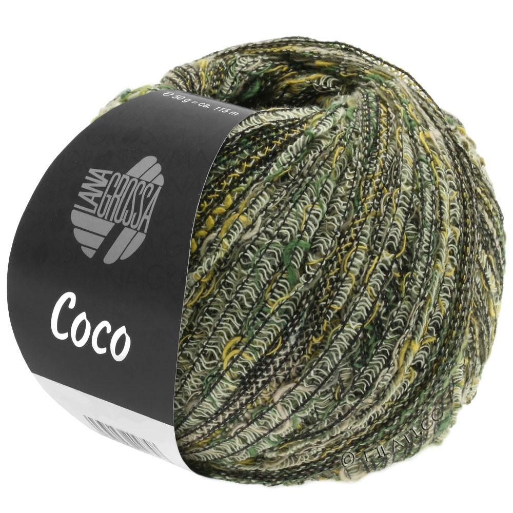 Lana Grossa COCO | 04-Natur/Senf/Graugrün