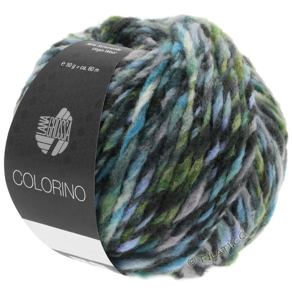 Lana Grossa COLORINO | 10-Grau/Anthrazit/Hellblau/Graugrün