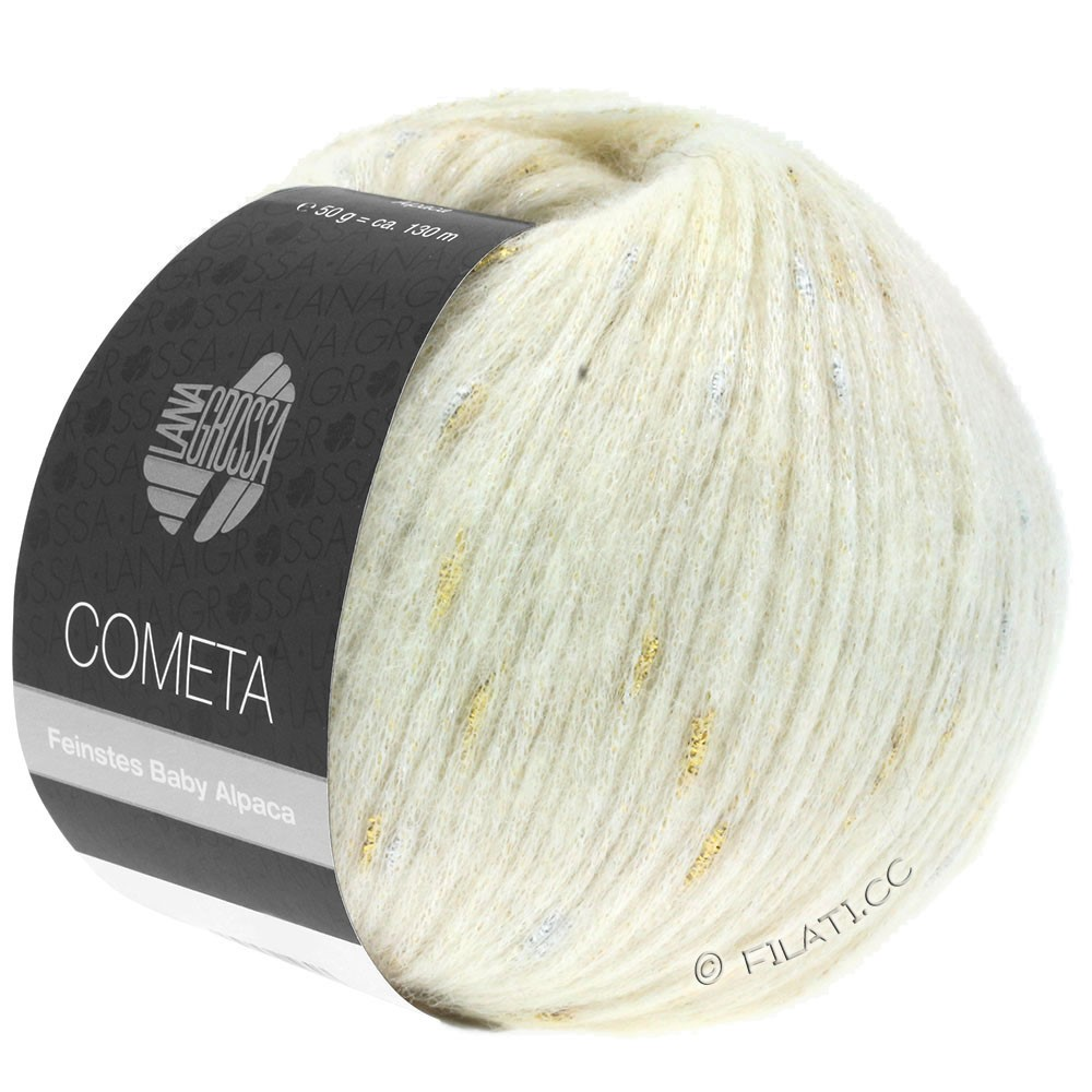 Lana Grossa COMETA | 001-Rohweiß/Gold/Silber