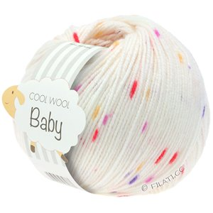 Lana Grossa COOL WOOL Baby 25g | 352-Weiß/Himbeer/Lila/Violett