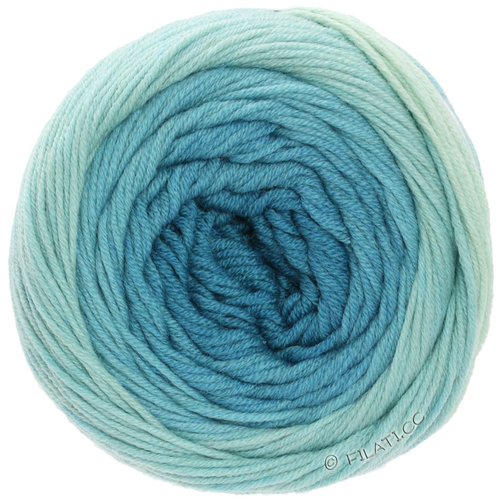 Lana Grossa COOL WOOL Big 1:1 | 5007-Ecru/Zartblau/Hellblau/Petrolblau