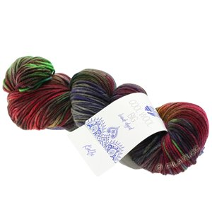 Lana Grossa COOL WOOL Big Hand-dyed | 204-Oliv/Schlamm/Brombeer/Bordeaux/Petrol/Jade/Braun