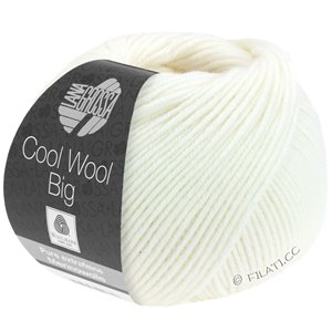 Lana Grossa COOL WOOL Big  Uni/Melange | 0615-Weiß