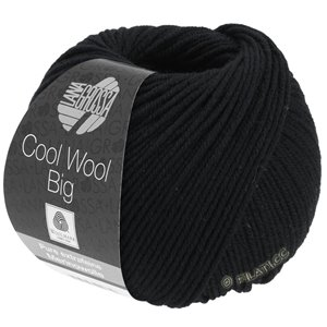 Lana Grossa COOL WOOL Big  Uni/Melange | 0627-Schwarz