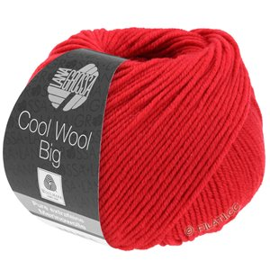 Lana Grossa COOL WOOL Big  Uni/Melange | 0648-Karminrot