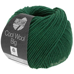 Lana Grossa COOL WOOL Big  Uni/Melange | 0949-Flaschengrün