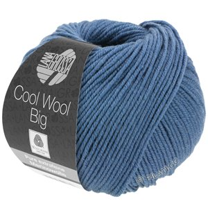 Lana Grossa COOL WOOL Big  Uni/Melange | 0968-Taubenblau