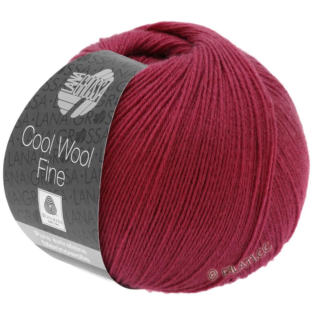 Lana Grossa COOL WOOL Fine | 10-Weinrot