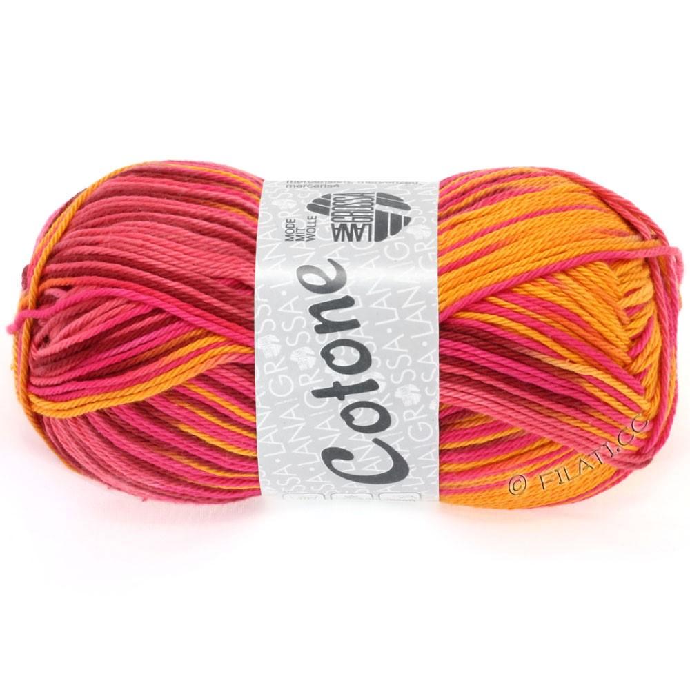 Lana Grossa COTONE Print | 314-Orange/Pink/Weinrot/Kürbis