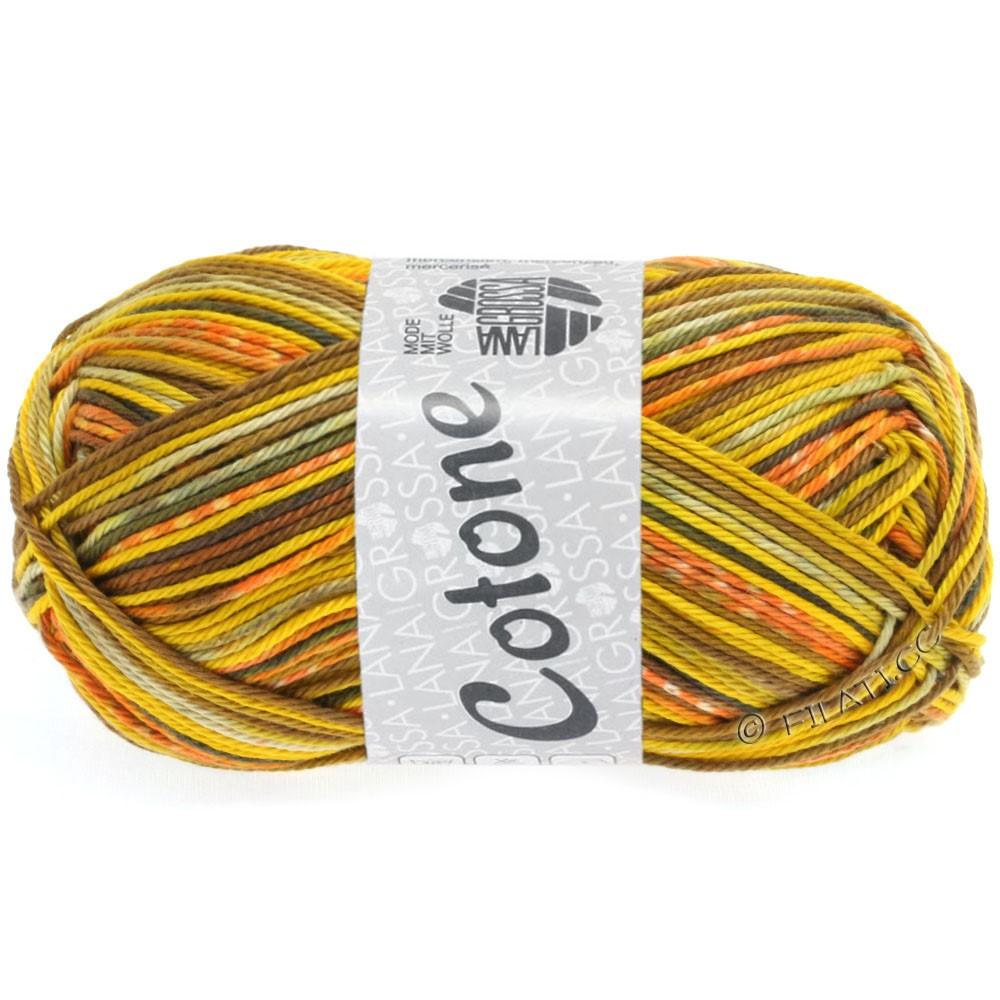 Lana Grossa COTONE Print | 507-Gelb/Orange/Beige/Weiß/Nougat