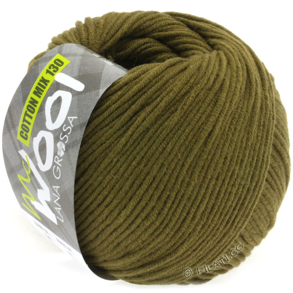 Lana Grossa COTTON MIX 130 (McWool) | 128-Oliv