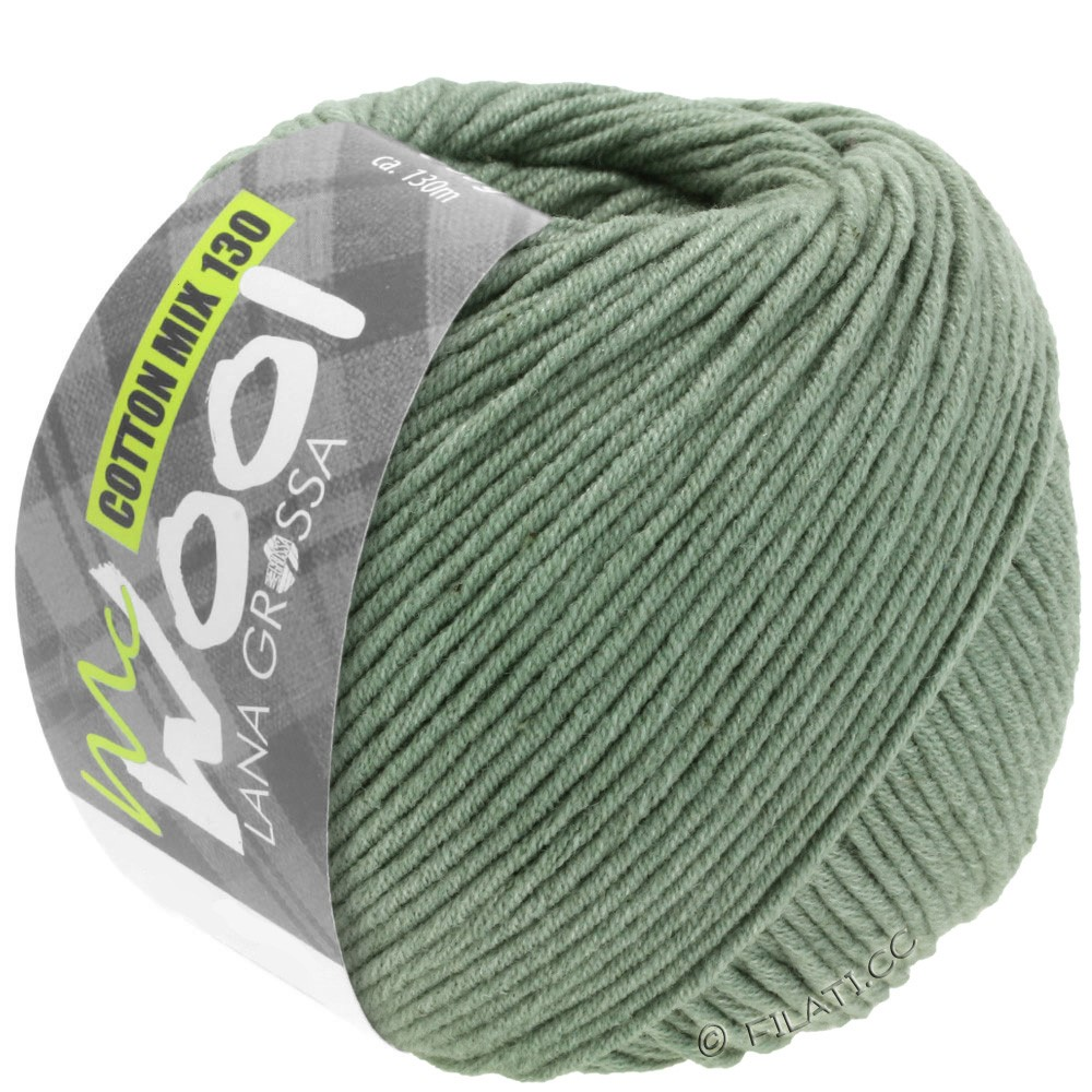 Lana Grossa COTTON MIX 130 (McWool) | 129-Graugrün