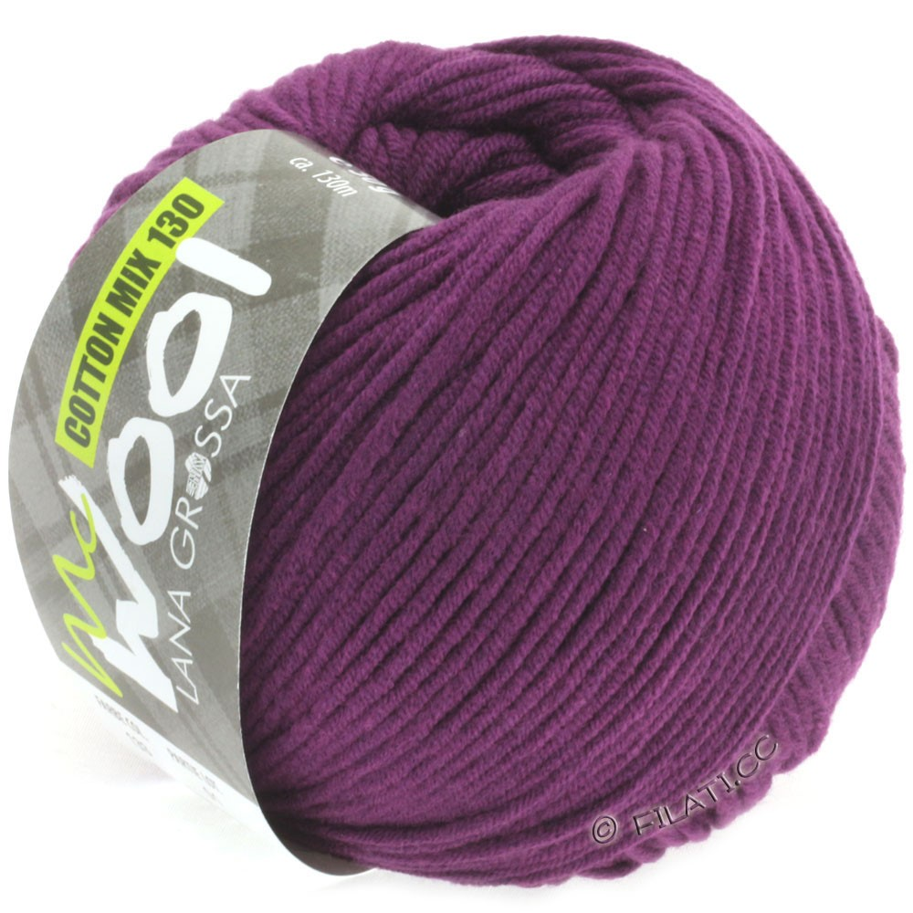 Lana Grossa COTTON MIX 130 (McWool) | 133-Dunkelviolett