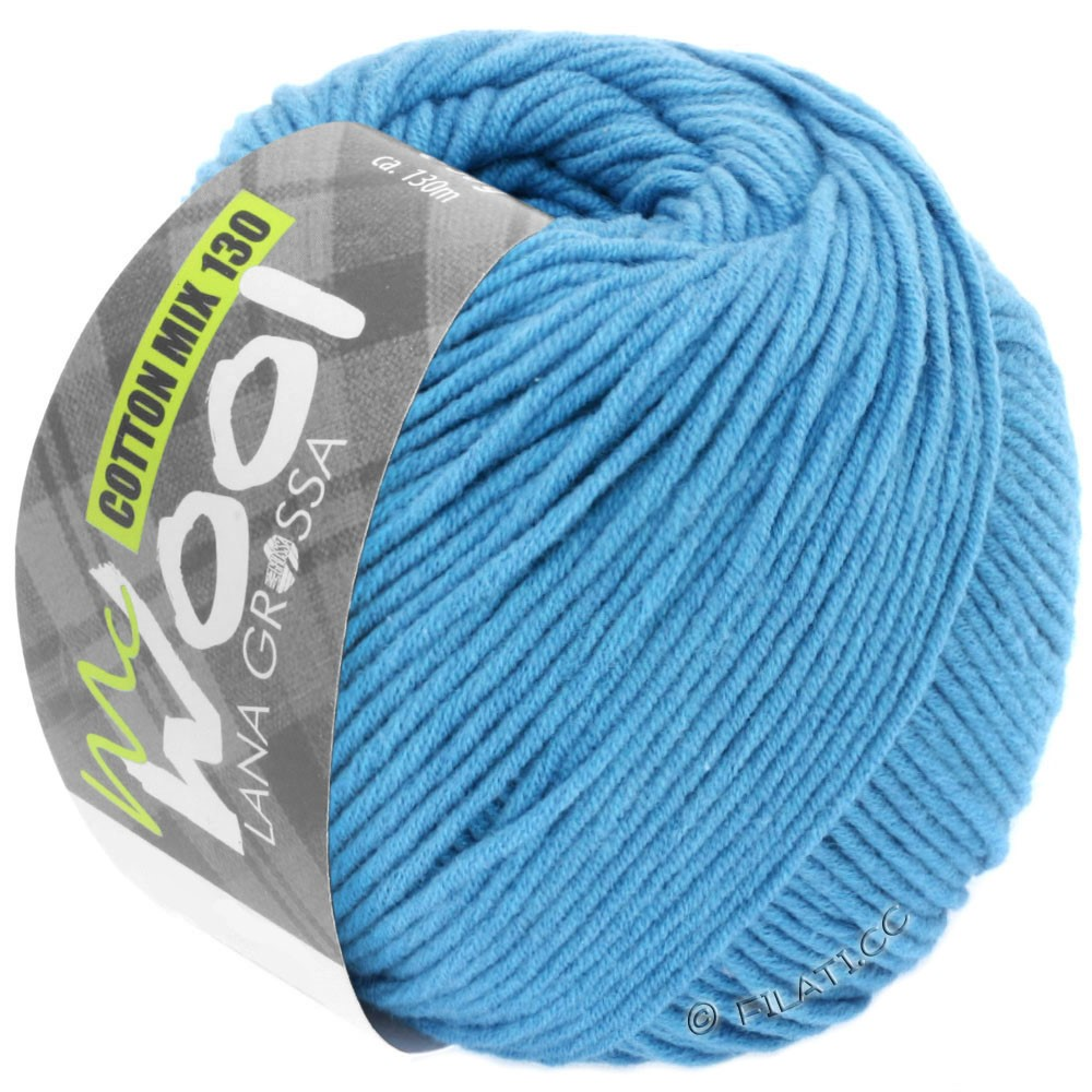 Lana Grossa COTTON MIX 130 (McWool) | 137-Himmelblau