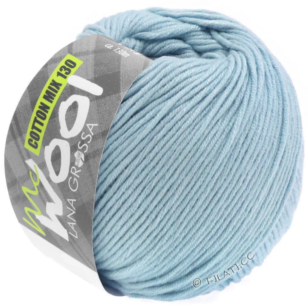 Lana Grossa COTTON MIX 130 (McWool) | 150-Hellblau