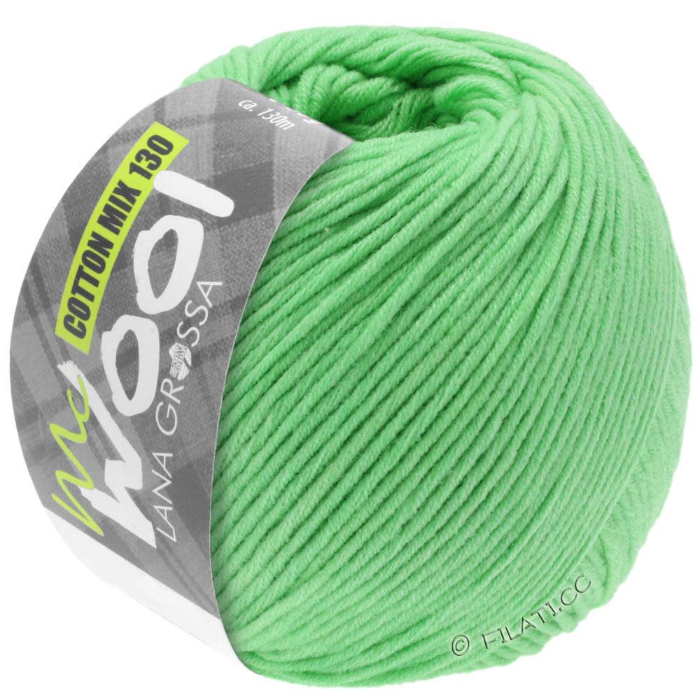 Lana Grossa Mc Wool Cotton mix 50 Farbe 002 maigrün 100g
