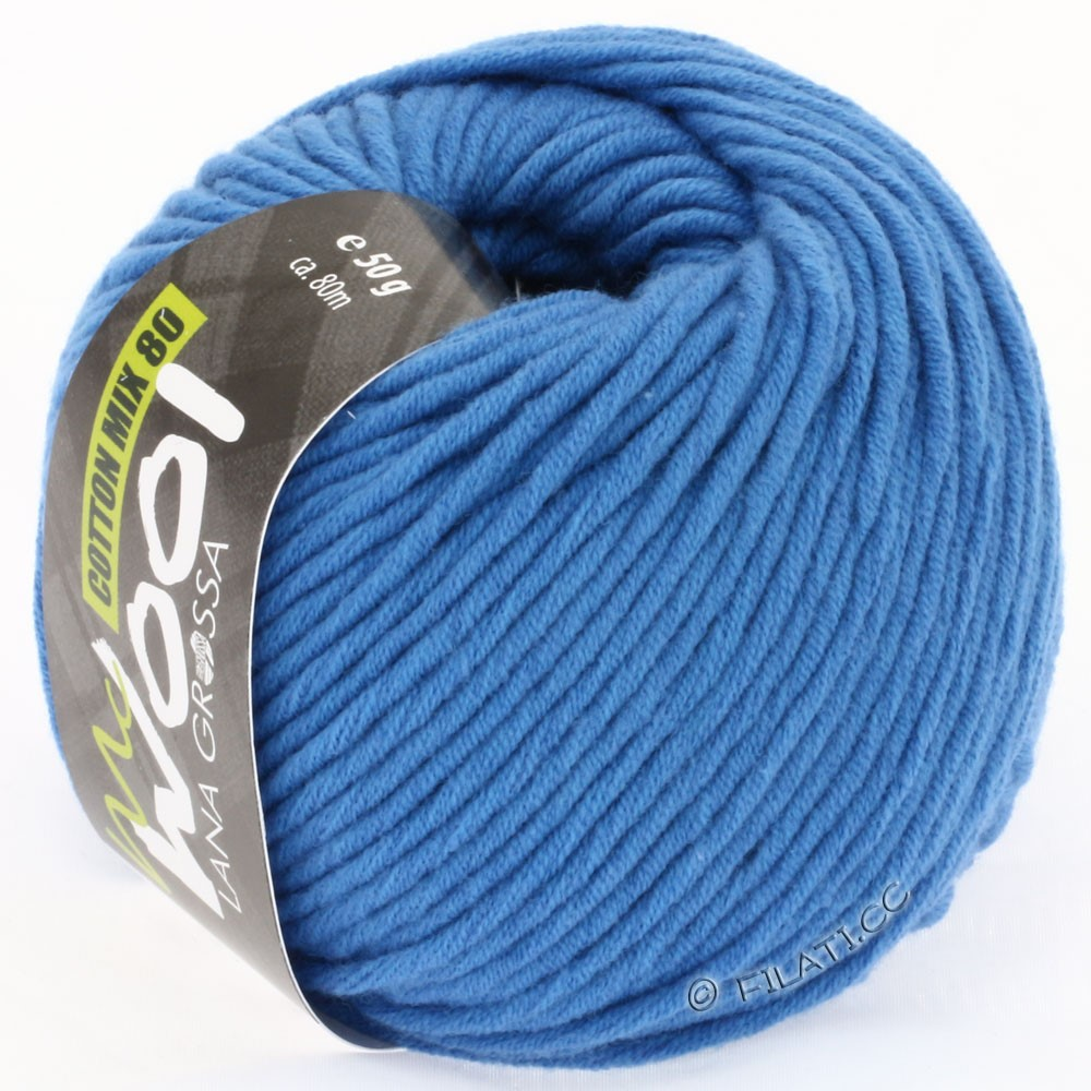 Lana Grossa COTTON MIX 80 (McWool) | 512-Blau