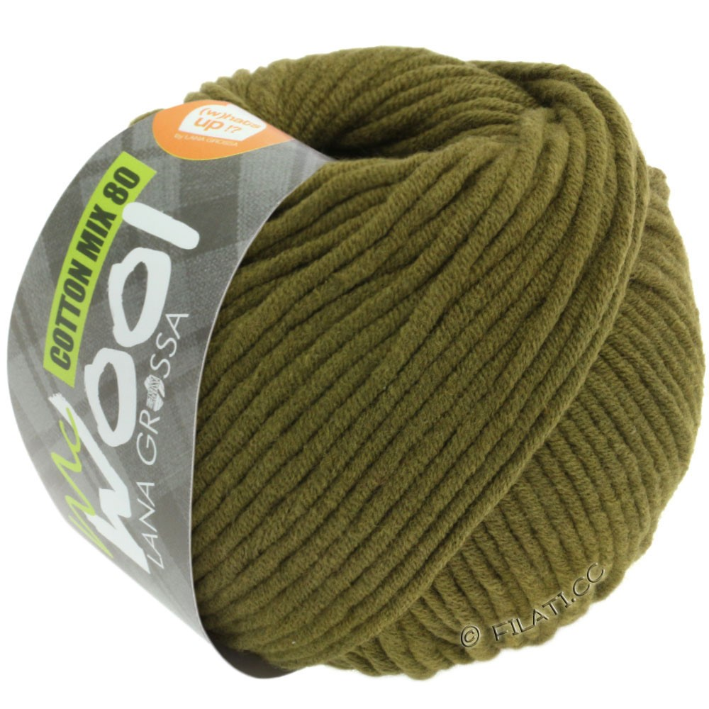 Lana Grossa COTTON MIX 80 (McWool) | 528-Oliv