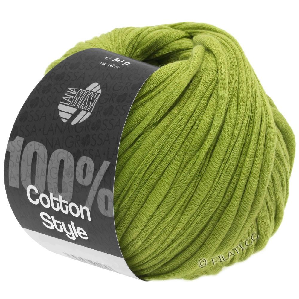 Lana Grossa COTTON STYLE | 10-Gelbgrün