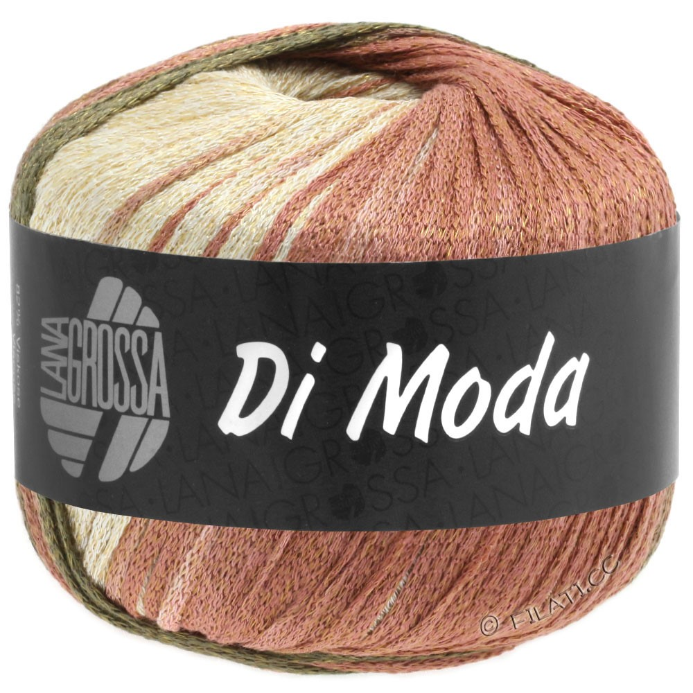 Lana Grossa DI MODA | 15-Terracotta/Dunkeloliv/Khakibraun